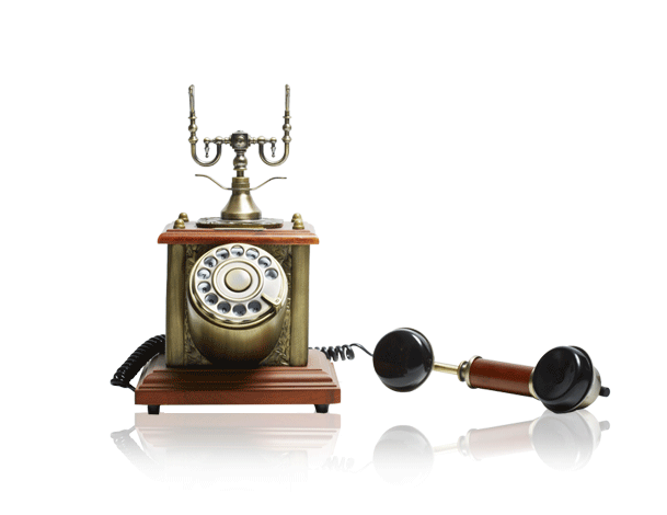 Gold Old Fashioned Phone