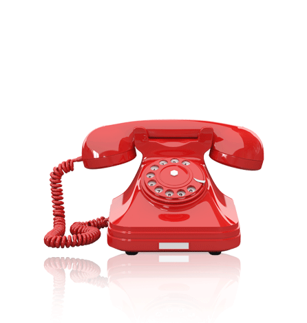 Red Old Fashioned Phone